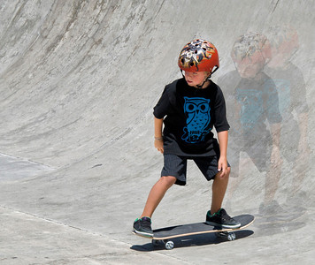 Boy at San Ramon skateboard park.